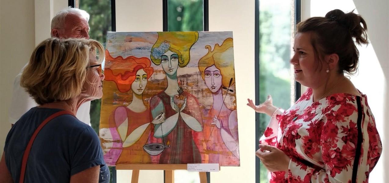 Natalija Vincic exposition chateau Roubine